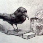 Учебная работа. Натюрморт с птицей