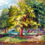 """""""Осенний пейзаж"""", Дьячук Н.А."""