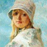 """""""Портрет в белой шляпе"""", Пономарева М.Л."""