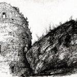 """""""Крепостная стена Псково-Печорского монастыря"""", Гирич В.В."""