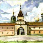 """""""Центральный вход в монастырь"""", Анисимова С.В."""