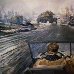"""«Фронтовая дорога», 1944"", Юрий Пименов"