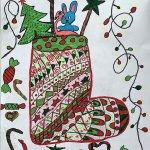 """""""Новогодняя открытка"""", Соседкина Сабина"""